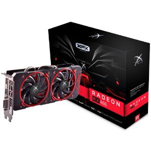 Placa de Vídeo AMD RX 460 - 2gb DDR5 - 128 Bits XFX RX-460P2DFG5