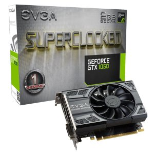 Placa de Vídeo Geforce GTX 1050 SuperClocked 2gb DDR5 - 128 Bits EVGA 02G-P4-6152-KR