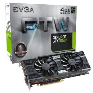 Placa de Vídeo Geforce GTX 1050TI FTW 4gb DDR5 - 128 Bits EVGA 04G-P4-6258-KR