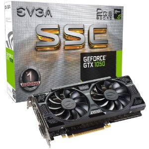 Placa de Vídeo Geforce GTX 1050 SSC 2gb GDDR5 128 Bits EVGA 02G-P4-6154-KR