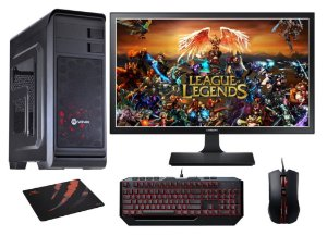 PC Gamer Completo Intel Core I5 Kabylake, 16gb DDR4, SSD 120gb, HD 1 TB, Geforce GTX 1060 3gb, Kit Devastator 2, Monitor LED 21.5