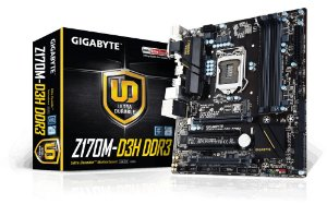 Placa Mãe Gigabyte Z170M-D3H DDR3 P/ Intel Socket LGA 1151