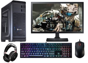 (Recomendado) PC Gamer Completo Intel Core I5 Skylake, 16gb DDR4, HD 1 TERA, AMD Radeon RX 470 4gb, LED 21.5, Kit CM RGB
