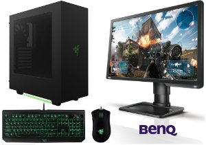 PC Gamer Intel Core I7 Kabylake, 16gb DDR4, SSD 120gb, HD 1TB, Geforce GTX 1070, Monitor LED 24, Kit Razer
