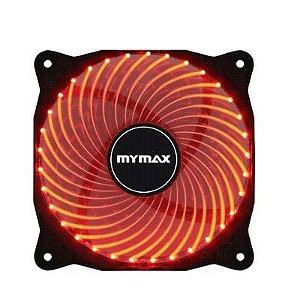Cooler Fan 12CM P/ Gabinete Mymax Storm 2 LED Vermelho MYC/FC-12025-33/RD