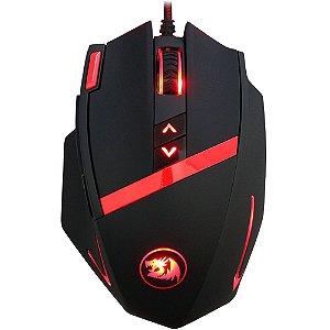 Mouse Laser Gamer Redragon Mammoth 16400dpi 9 botões e Ajuste de Peso USB M801