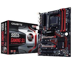 Placa Mãe Gigabyte 990X-Gaming SLI P/ AMD Socket AM3+
