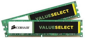 Memória Corsair Value Select 16GB (2x8GB)1600Mhz DDR3 CL11 - CMV16GX3M2A1600C11