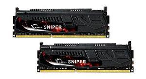 Kit Memória 16gb DDR3 1600 Mhz G.Skill Sniper F3-1600C10D-16GSR (2X8GB)