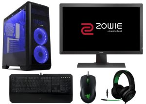 Computador Gamer Super Completo Intel Core I7 Kaby Lake, 16gb DDR4, SSD 240gb, HD 2TB, Geforce GTX 1060 G1 6gb, Kit Razer, Monitor BenQ 24