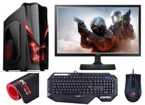 PC Gamer Completo Intel Core I7 Kaby Lake, 8gb DDR4, HD 1 Tera, Geforce GTX 1060 OC 6gb, Kit Gamer PCYES, Monitor LED 21.5