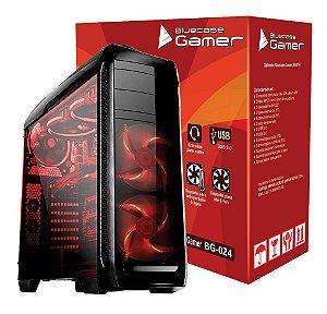 Gabinete Bluecase Gamer BG-024 2 Baias C/ Tampa Lateral de Acrílico e USB 3.0 Frontal e LED Personalizavel sem Fonte