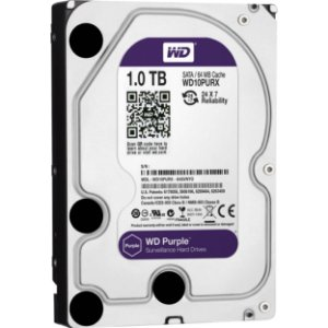 HD 1 Tera Sata 6gbs Western Digital Purple Surveillance IntelliPower 64MB - WD10PURX