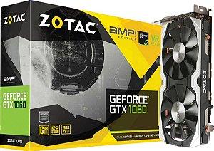Placa de Vídeo Geforce GTX 1060 AMP 6gbs GDDR5 - 192 Bits ZOTAC ZT-P10600B-10M
