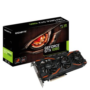 Placa de Vídeo Geforce GTX 1080 WINDFORCE OC 8gb GDDR5 - 256 Bits GIGABYTE GV-N1080WF3OC-8GD