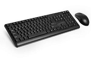 Teclado e Mouse Multilaser Wireless 2.4GHz USB TC162 Preto
