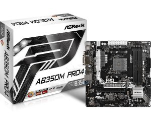 Placa Mãe ASrock AB350M Pro4 P/ AMD Socket AM4