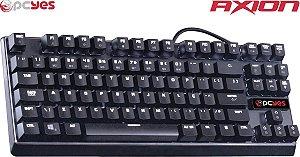 Teclado Gamer Mecânico PCYES AXION com LED Branco ABNT2