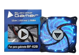 Cooler FAN Bluecase Gamer 120mm LED Azul BF-02B LED