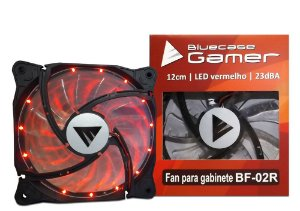 Cooler FAN Bluecase Gamer 120mm LED Vermelho BF-02R