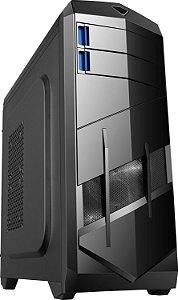 Gabinete ATX Gamer BlueCase BG-023 C/ 2 Baias 2 Coolers e USB 3.0 Frontal