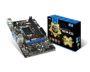 Placa Mãe MSI H81M-E33 Military Socket LGA 1150