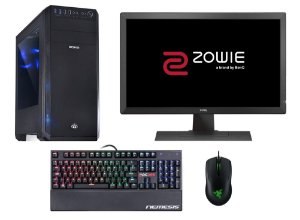 PC Gamer Super Completo Intel Core I5 Kaby Lake, 8gb DDR4, HD 1 Tera, Geforce GTX 1060 SC 3gb, Monitor Gamer Zowie 24 Polegadas, Teclado e Mouse Gamer