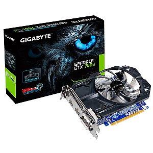 Placa de Vídeo Geforce GTX 750TI 2gb GDDR5 - 128 Bits Gigabyte GV-N75TD5-2GI