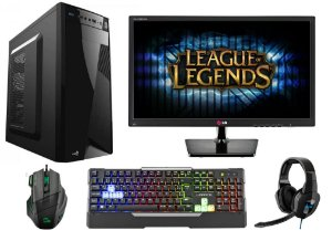PC Gamer Completo Intel Pentium G4560, 8gb DDR4, HD 1 Tera, Geforce GTX 1050 2gb, Monitor LED 19,5, Teclado, Mouse e Headset Gamer