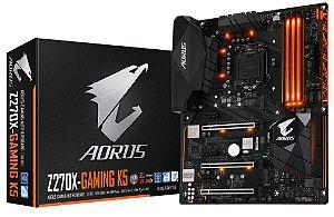 Placa Mãe ATX Gigabyte Z270X-Gaming K5 P/ Intel Socket LGA 1151