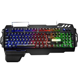 Teclado Gamer Multilaser Semi Mecânico Warrior - TC210
