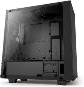Gabinete ATX Gamer Preto C/ Tampa Lateral de Vidro Temperado e USB 3.0 Frontal NZXT S340 ELITE - CA-S340W-B3