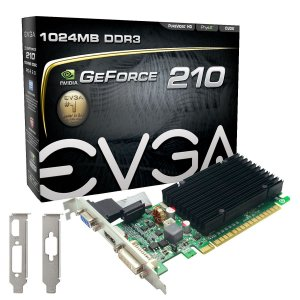 Placa de Vídeo Geforce GT 210 - 1GB - DDR3 - 64 Bits Low Profile EVGA 01G-P3-1313-KR