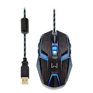 Mouse Gamer Multilaser Ambidestro Óptico USB 4000 DPI MO252
