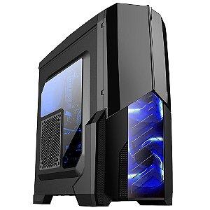 Gabinete ATX Gamer Mymax Centauro Preto C/ LED AZUL, Tampa de Acrílico Lateral e USB 3.0 Frontal - MCA-KU-855B/BL