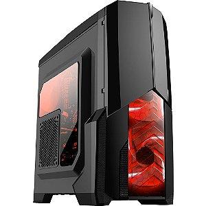 Gabinete ATX Gamer Mymax Centauro Preto C/ LED VERMELHO, Tampa de Acrílico Lateral e USB 3.0 Frontal - MCA-KU-855B/RD