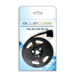 FITA LED P/ GABINETE 80MM VERDE BLUECASE BL-01G BLISTER 12V