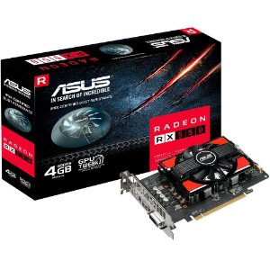 Placa de Vídeo AMD Radeon RX 550 4GB GDDR5 - 128 Bits ASUS RX550-4G