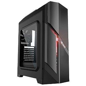 Gabinete C3 Tech Gamer Full-ATX com Lateral em Acrílico sem Fonte Preto MT-G700BK
