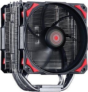 Cooler para Processador PCYES Zero K Z5 Vermelho 120mm sem LED AMD/Intel – ACZK5120