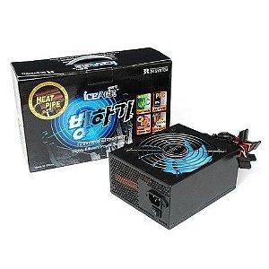 Fonte ATX 500 Watts Potência Real C/ PFC Ativo Bivolt Automático Casemall 3R System IceAge - 1A500HP80