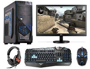 PC Gamer Completo AMD Ryzen 5 1400, 8gb DDR4, HD 1 Tera, AMD Radeon RX 550 4gb, Monitor LED 18.5, Teclado e Mouse Gamer