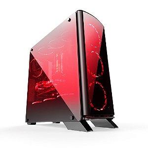 Gabinete ATX Gamer BlueCase BG-007 C/ Tampa de Vidro Lateral, USB 3.0 e Suporte para 10 Coolers (Imagens Ilustrativas)