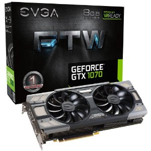 Placa de Vídeo Geforce GTX 1070 FTW Gaming ACX3 - 8gb GDDR5 - 256 Bits EVGA 08G-P4-6276-KR