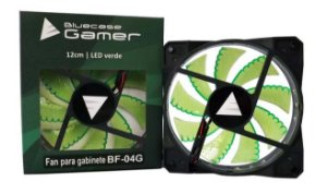 Cooler FAN Bluecase Gamer 120mm LED Verde BF-02G