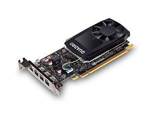 Placa de Vídeo Profissional NVIDIA QUADRO P1000 - 4GB GDDR5 - 128 Bits PNY VCQP1000V2-PORPB