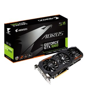 Placa de Vídeo Geforce GTX 1060 WindForce 3X - 6Gb GDDR5 Gigabyte GV-N1060AORUS-6GD R2