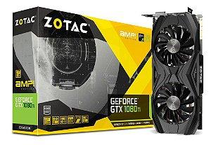 Placa de Vídeo Geforce GTX 1080TI AMP 11GB GDDR5X - 352 Bits ZOTAC - ZT-P10810D-10P