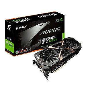 Placa de Vídeo Geforce GTX 1080TI AORUS 11GB GDDR5X - 352 Bits Gigabyte GV-N108TAORUS-11GD