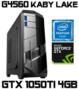 PC Gamer Intel Pentium Kaby Lake G4560, 4GB DDR4, HD 1 Tera, Geforce GTX 1050TI 4GB